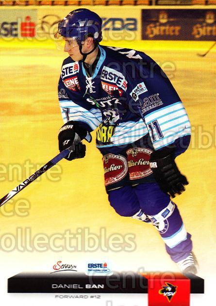 2012-13 Erste Bank Eishockey Liga EBEL #353 Daniel Ban<br/>5 In Stock - $2.00 each - <a href=https://centericecollectibles.foxycart.com/cart?name=2012-13%20Erste%20Bank%20Eishockey%20Liga%20EBEL%20%23353%20Daniel%20Ban...&quantity_max=5&price=$2.00&code=550799 class=foxycart> Buy it now! </a>