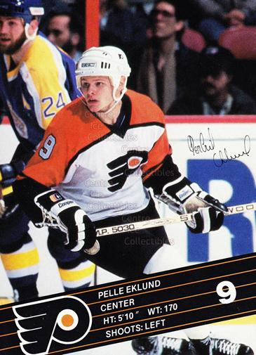 1986-87 Philadelphia Flyers Postcards #9 Pelle Eklund<br/>2 In Stock - $3.00 each - <a href=https://centericecollectibles.foxycart.com/cart?name=1986-87%20Philadelphia%20Flyers%20Postcards%20%239%20Pelle%20Eklund...&quantity_max=2&price=$3.00&code=550853 class=foxycart> Buy it now! </a>