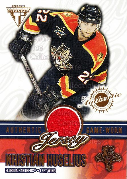 2002-03 Titanium Jersey Hobby #32 Kristian Huselius<br/>1 In Stock - $5.00 each - <a href=https://centericecollectibles.foxycart.com/cart?name=2002-03%20Titanium%20Jersey%20Hobby%20%2332%20Kristian%20Huseli...&quantity_max=1&price=$5.00&code=550977 class=foxycart> Buy it now! </a>