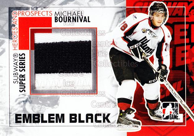 2010-11 ITG Heroes and Prospects Subway Emblem Black #17 Michael Bournival<br/>1 In Stock - $20.00 each - <a href=https://centericecollectibles.foxycart.com/cart?name=2010-11%20ITG%20Heroes%20and%20Prospects%20Subway%20Emblem%20Black%20%2317%20Michael%20Bourniv...&quantity_max=1&price=$20.00&code=551130 class=foxycart> Buy it now! </a>