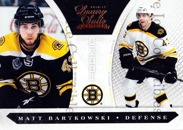 2010-11 Luxury Suite #226 Matt Bartkowski<br/>2 In Stock - $5.00 each - <a href=https://centericecollectibles.foxycart.com/cart?name=2010-11%20Luxury%20Suite%20%23226%20Matt%20Bartkowski...&quantity_max=2&price=$5.00&code=551664 class=foxycart> Buy it now! </a>