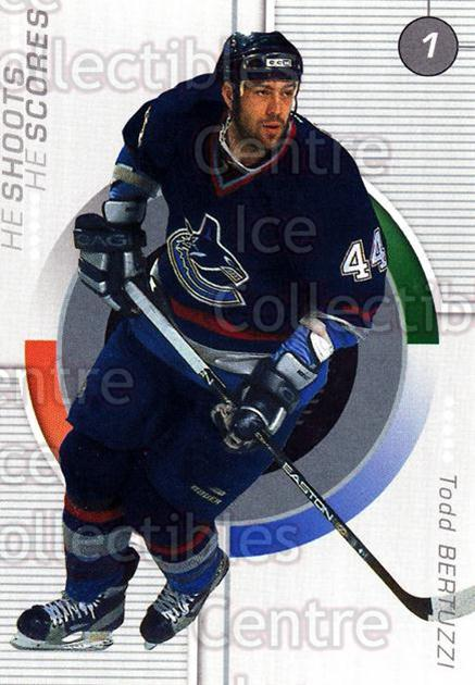 2001-02 BAP Update Points #18 Todd Bertuzzi<br/>3 In Stock - $2.00 each - <a href=https://centericecollectibles.foxycart.com/cart?name=2001-02%20BAP%20Update%20Points%20%2318%20Todd%20Bertuzzi...&quantity_max=3&price=$2.00&code=551691 class=foxycart> Buy it now! </a>
