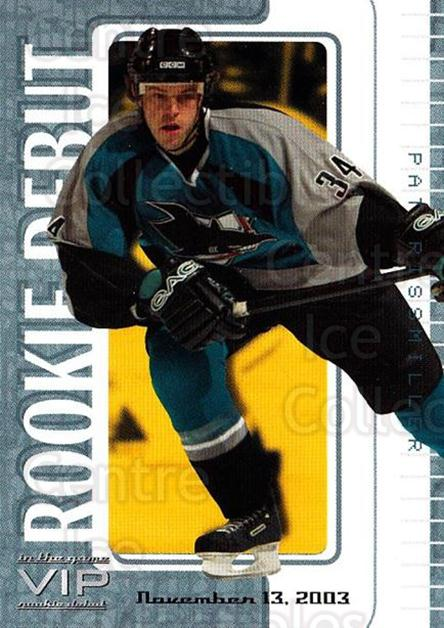 2003-04 ITG VIP Rookie Debut #60 Pat Rissmiller<br/>3 In Stock - $10.00 each - <a href=https://centericecollectibles.foxycart.com/cart?name=2003-04%20ITG%20VIP%20Rookie%20Debut%20%2360%20Pat%20Rissmiller...&quantity_max=3&price=$10.00&code=551872 class=foxycart> Buy it now! </a>