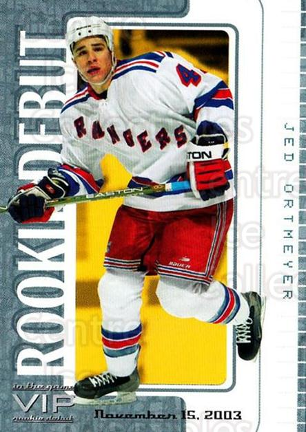 2003-04 ITG VIP Rookie Debut #61 Jed Ortmeyer<br/>3 In Stock - $10.00 each - <a href=https://centericecollectibles.foxycart.com/cart?name=2003-04%20ITG%20VIP%20Rookie%20Debut%20%2361%20Jed%20Ortmeyer...&quantity_max=3&price=$10.00&code=551873 class=foxycart> Buy it now! </a>
