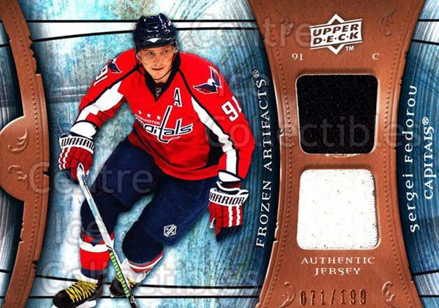 2009-10 UD Artifacts Frozen Artifacts #FASF Sergei Fedorov<br/>1 In Stock - $5.00 each - <a href=https://centericecollectibles.foxycart.com/cart?name=2009-10%20UD%20Artifacts%20Frozen%20Artifacts%20%23FASF%20Sergei%20Fedorov...&quantity_max=1&price=$5.00&code=553526 class=foxycart> Buy it now! </a>