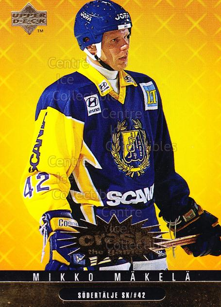 1997-98 Swedish Collectors Choice Crash the Game Gold #28 Mikko Makela<br/>3 In Stock - $2.00 each - <a href=https://centericecollectibles.foxycart.com/cart?name=1997-98%20Swedish%20Collectors%20Choice%20Crash%20the%20Game%20Gold%20%2328%20Mikko%20Makela...&quantity_max=3&price=$2.00&code=55373 class=foxycart> Buy it now! </a>