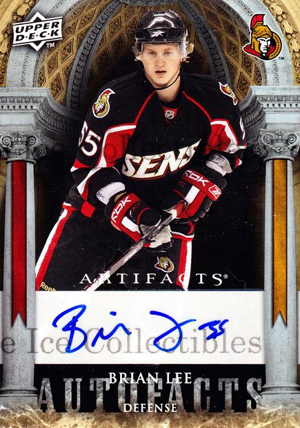 2009-10 UD Artifacts Auto-Facts #AFBL Brian Lee<br/>1 In Stock - $5.00 each - <a href=https://centericecollectibles.foxycart.com/cart?name=2009-10%20UD%20Artifacts%20Auto-Facts%20%23AFBL%20Brian%20Lee...&quantity_max=1&price=$5.00&code=554037 class=foxycart> Buy it now! </a>