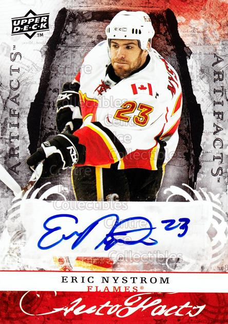 2008-09 UD Artifacts Auto-Facts #AFEN Eric Nystrom<br/>1 In Stock - $5.00 each - <a href=https://centericecollectibles.foxycart.com/cart?name=2008-09%20UD%20Artifacts%20Auto-Facts%20%23AFEN%20Eric%20Nystrom...&quantity_max=1&price=$5.00&code=554159 class=foxycart> Buy it now! </a>