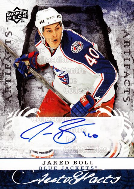 2008-09 UD Artifacts Auto-Facts #AFJA Jared Boll<br/>1 In Stock - $5.00 each - <a href=https://centericecollectibles.foxycart.com/cart?name=2008-09%20UD%20Artifacts%20Auto-Facts%20%23AFJA%20Jared%20Boll...&price=$5.00&code=554169 class=foxycart> Buy it now! </a>