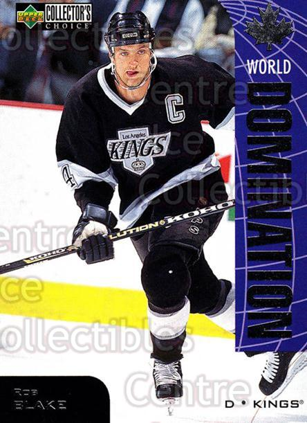 1997-98 Collectors Choice World Domination #13 Rob Blake<br/>3 In Stock - $2.00 each - <a href=https://centericecollectibles.foxycart.com/cart?name=1997-98%20Collectors%20Choice%20World%20Domination%20%2313%20Rob%20Blake...&quantity_max=3&price=$2.00&code=55471 class=foxycart> Buy it now! </a>