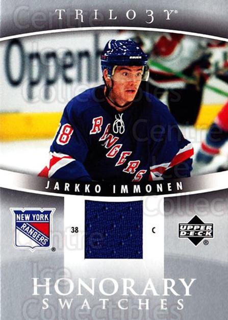 2006-07 UD Trilogy Honorary Swatches #HSIM Jarkko Immonen<br/>2 In Stock - $5.00 each - <a href=https://centericecollectibles.foxycart.com/cart?name=2006-07%20UD%20Trilogy%20Honorary%20Swatches%20%23HSIM%20Jarkko%20Immonen...&price=$5.00&code=555747 class=foxycart> Buy it now! </a>