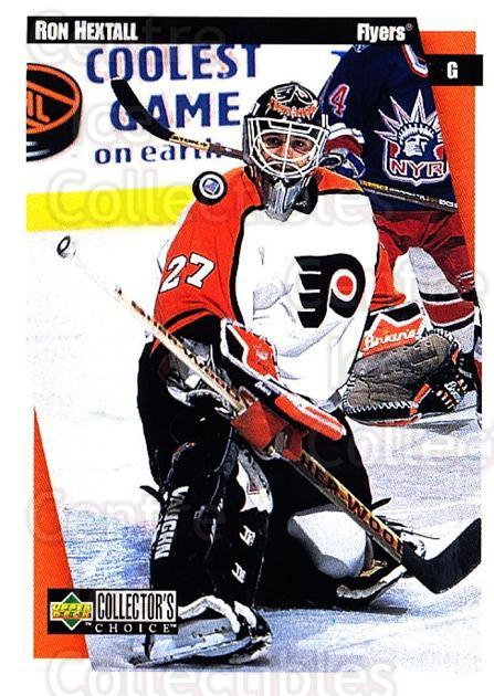 1997-98 Collectors Choice #188 Ron Hextall<br/>6 In Stock - $1.00 each - <a href=https://centericecollectibles.foxycart.com/cart?name=1997-98%20Collectors%20Choice%20%23188%20Ron%20Hextall...&quantity_max=6&price=$1.00&code=55579 class=foxycart> Buy it now! </a>