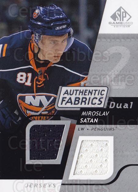 2008-09 Sp Game Used Dual Authentic Fabrics #AFST Miroslav Satan<br/>1 In Stock - $5.00 each - <a href=https://centericecollectibles.foxycart.com/cart?name=2008-09%20Sp%20Game%20Used%20Dual%20Authentic%20Fabrics%20%23AFST%20Miroslav%20Satan...&quantity_max=1&price=$5.00&code=556147 class=foxycart> Buy it now! </a>