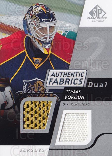 2008-09 Sp Game Used Dual Authentic Fabrics #AFVO Tomas Vokoun<br/>1 In Stock - $10.00 each - <a href=https://centericecollectibles.foxycart.com/cart?name=2008-09%20Sp%20Game%20Used%20Dual%20Authentic%20Fabrics%20%23AFVO%20Tomas%20Vokoun...&quantity_max=1&price=$10.00&code=556157 class=foxycart> Buy it now! </a>