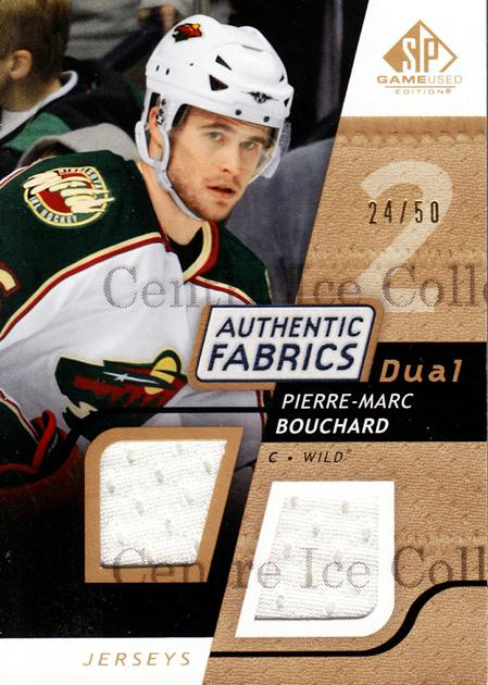 2008-09 Sp Game Used Dual Authentic Fabrics Gold #AFPB Pierre-Marc Bouchard<br/>1 In Stock - $5.00 each - <a href=https://centericecollectibles.foxycart.com/cart?name=2008-09%20Sp%20Game%20Used%20Dual%20Authentic%20Fabrics%20Gold%20%23AFPB%20Pierre-Marc%20Bou...&quantity_max=1&price=$5.00&code=556227 class=foxycart> Buy it now! </a>
