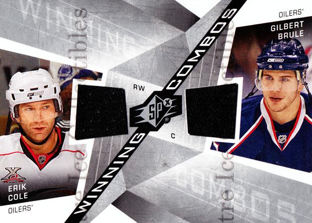 2008-09 Spx Winning Combos #WCCB Erik Cole, Gilbert Brule<br/>1 In Stock - $5.00 each - <a href=https://centericecollectibles.foxycart.com/cart?name=2008-09%20Spx%20Winning%20Combos%20%23WCCB%20Erik%20Cole,%20Gilb...&quantity_max=1&price=$5.00&code=557064 class=foxycart> Buy it now! </a>