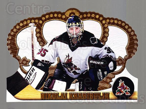1997-98 Crown Royale #104 Nikolai Khabibulin<br/>5 In Stock - $1.00 each - <a href=https://centericecollectibles.foxycart.com/cart?name=1997-98%20Crown%20Royale%20%23104%20Nikolai%20Khabibu...&quantity_max=5&price=$1.00&code=55774 class=foxycart> Buy it now! </a>