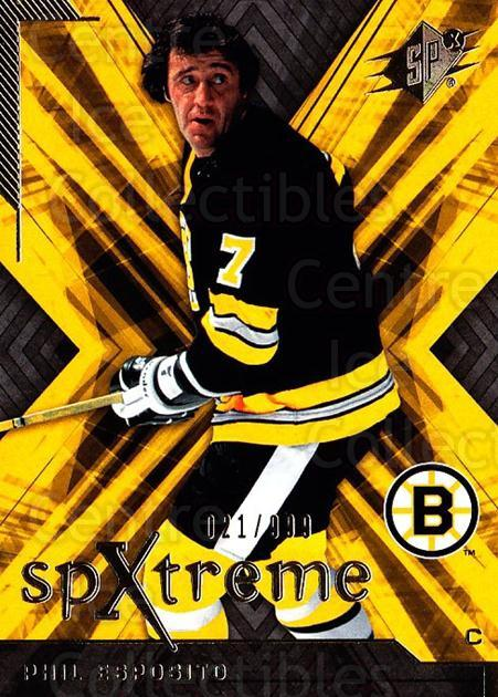 2007-08 SPx SPXtreme #7 Phil Esposito<br/>1 In Stock - $3.00 each - <a href=https://centericecollectibles.foxycart.com/cart?name=2007-08%20SPx%20SPXtreme%20%237%20Phil%20Esposito...&quantity_max=1&price=$3.00&code=557894 class=foxycart> Buy it now! </a>