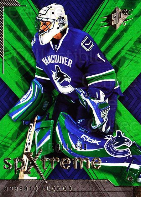 2007-08 SPx SPXtreme #43 Roberto Luongo<br/>1 In Stock - $3.00 each - <a href=https://centericecollectibles.foxycart.com/cart?name=2007-08%20SPx%20SPXtreme%20%2343%20Roberto%20Luongo...&quantity_max=1&price=$3.00&code=557930 class=foxycart> Buy it now! </a>