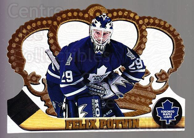1997-98 Crown Royale #131 Felix Potvin<br/>2 In Stock - $1.00 each - <a href=https://centericecollectibles.foxycart.com/cart?name=1997-98%20Crown%20Royale%20%23131%20Felix%20Potvin...&quantity_max=2&price=$1.00&code=55800 class=foxycart> Buy it now! </a>