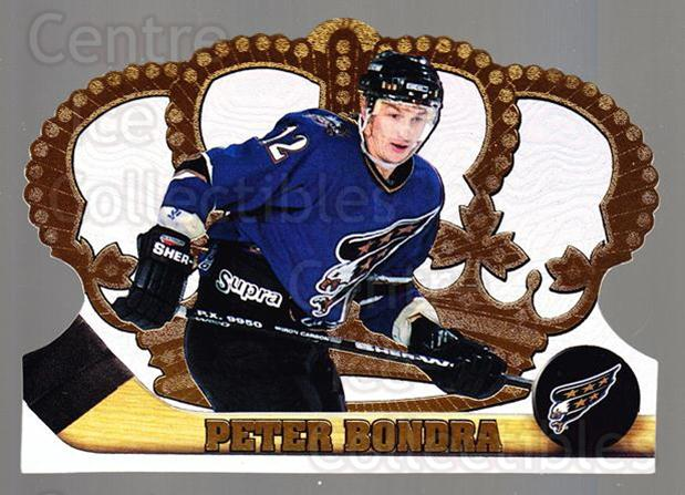 1997-98 Crown Royale #138 Peter Bondra<br/>5 In Stock - $1.00 each - <a href=https://centericecollectibles.foxycart.com/cart?name=1997-98%20Crown%20Royale%20%23138%20Peter%20Bondra...&quantity_max=5&price=$1.00&code=55806 class=foxycart> Buy it now! </a>