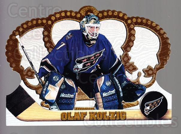 1997-98 Crown Royale #141 Olaf Kolzig<br/>4 In Stock - $1.00 each - <a href=https://centericecollectibles.foxycart.com/cart?name=1997-98%20Crown%20Royale%20%23141%20Olaf%20Kolzig...&quantity_max=4&price=$1.00&code=55810 class=foxycart> Buy it now! </a>