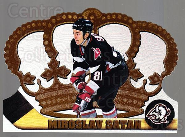 1997-98 Crown Royale #16 Miroslav Satan<br/>4 In Stock - $1.00 each - <a href=https://centericecollectibles.foxycart.com/cart?name=1997-98%20Crown%20Royale%20%2316%20Miroslav%20Satan...&quantity_max=4&price=$1.00&code=55815 class=foxycart> Buy it now! </a>