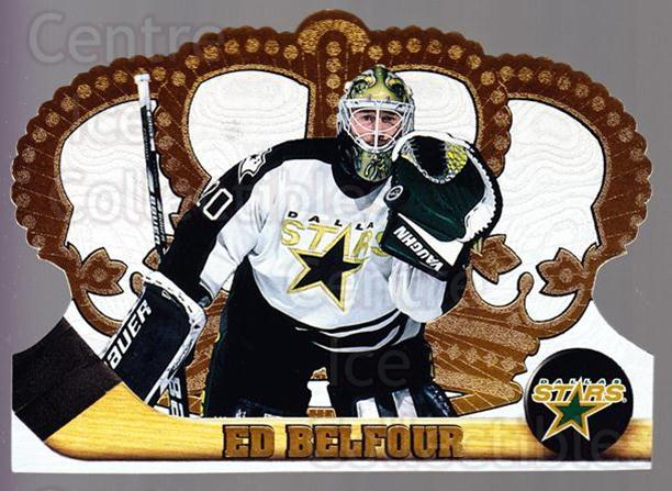 1997-98 Crown Royale #39 Ed Belfour<br/>5 In Stock - $1.00 each - <a href=https://centericecollectibles.foxycart.com/cart?name=1997-98%20Crown%20Royale%20%2339%20Ed%20Belfour...&price=$1.00&code=55836 class=foxycart> Buy it now! </a>