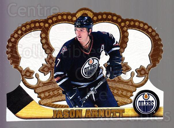 1997-98 Crown Royale #52 Jason Arnott<br/>5 In Stock - $1.00 each - <a href=https://centericecollectibles.foxycart.com/cart?name=1997-98%20Crown%20Royale%20%2352%20Jason%20Arnott...&quantity_max=5&price=$1.00&code=55847 class=foxycart> Buy it now! </a>