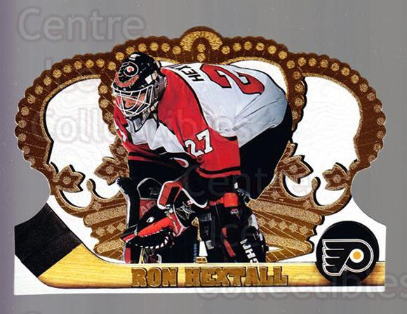 1997-98 Crown Royale #97 Ron Hextall<br/>4 In Stock - $1.00 each - <a href=https://centericecollectibles.foxycart.com/cart?name=1997-98%20Crown%20Royale%20%2397%20Ron%20Hextall...&quantity_max=4&price=$1.00&code=55894 class=foxycart> Buy it now! </a>