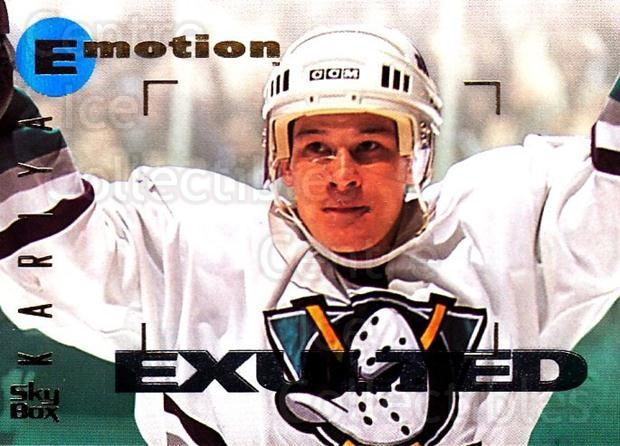 1995-96 Emotion #3 Paul Kariya<br/>4 In Stock - $1.00 each - <a href=https://centericecollectibles.foxycart.com/cart?name=1995-96%20Emotion%20%233%20Paul%20Kariya...&quantity_max=4&price=$1.00&code=560414 class=foxycart> Buy it now! </a>