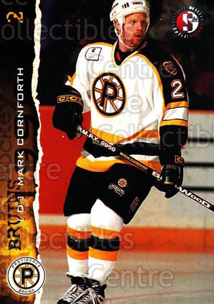 1996-97 Providence Bruins #14 Mark Cornforth<br/>6 In Stock - $3.00 each - <a href=https://centericecollectibles.foxycart.com/cart?name=1996-97%20Providence%20Bruins%20%2314%20Mark%20Cornforth...&price=$3.00&code=560600 class=foxycart> Buy it now! </a>