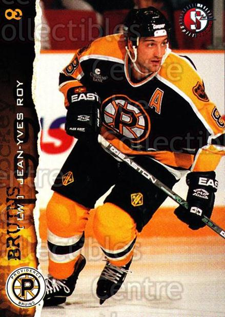 1996-97 Providence Bruins #16 Jean-Yves Roy<br/>8 In Stock - $3.00 each - <a href=https://centericecollectibles.foxycart.com/cart?name=1996-97%20Providence%20Bruins%20%2316%20Jean-Yves%20Roy...&price=$3.00&code=560602 class=foxycart> Buy it now! </a>