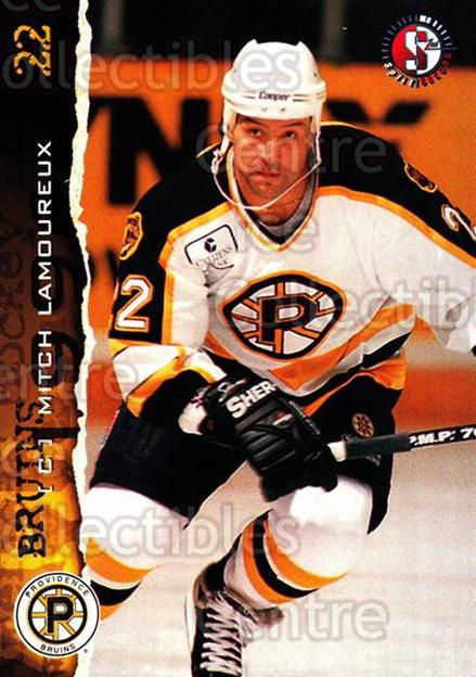 1996-97 Providence Bruins #18 Mitch Lamoureux<br/>2 In Stock - $3.00 each - <a href=https://centericecollectibles.foxycart.com/cart?name=1996-97%20Providence%20Bruins%20%2318%20Mitch%20Lamoureux...&price=$3.00&code=560604 class=foxycart> Buy it now! </a>