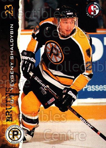 1996-97 Providence Bruins #19 Yevgeny Shaldybin<br/>6 In Stock - $3.00 each - <a href=https://centericecollectibles.foxycart.com/cart?name=1996-97%20Providence%20Bruins%20%2319%20Yevgeny%20Shaldyb...&price=$3.00&code=560605 class=foxycart> Buy it now! </a>