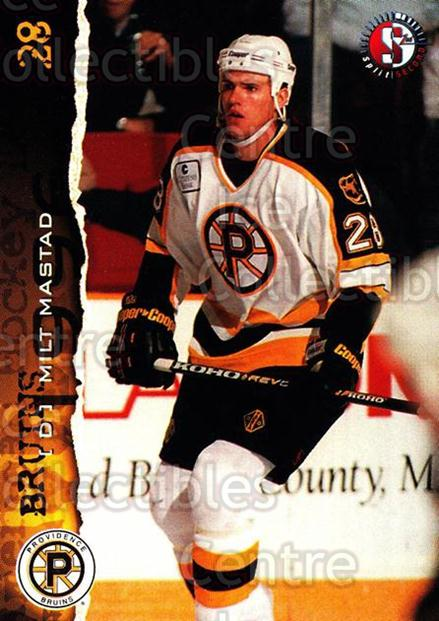 1996-97 Providence Bruins #21 Milt Mastad<br/>8 In Stock - $3.00 each - <a href=https://centericecollectibles.foxycart.com/cart?name=1996-97%20Providence%20Bruins%20%2321%20Milt%20Mastad...&price=$3.00&code=560607 class=foxycart> Buy it now! </a>
