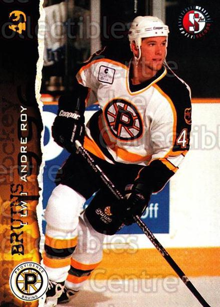 1996-97 Providence Bruins #24 Andre Roy<br/>8 In Stock - $3.00 each - <a href=https://centericecollectibles.foxycart.com/cart?name=1996-97%20Providence%20Bruins%20%2324%20Andre%20Roy...&price=$3.00&code=560610 class=foxycart> Buy it now! </a>