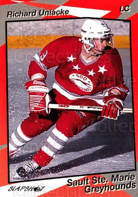 1993-94 Sault Ste. Marie Greyhounds #10 Richard Uniacke<br/>3 In Stock - $3.00 each - <a href=https://centericecollectibles.foxycart.com/cart?name=1993-94%20Sault%20Ste.%20Marie%20Greyhounds%20%2310%20Richard%20Uniacke...&quantity_max=3&price=$3.00&code=5610 class=foxycart> Buy it now! </a>
