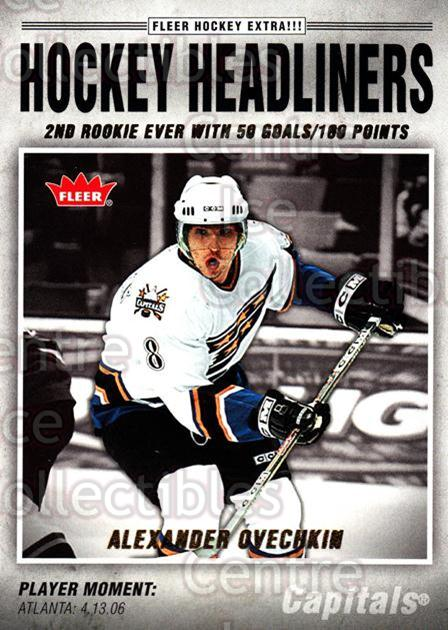 2006-07 Fleer Hockey Headliners #2 Alexander Ovechkin<br/>2 In Stock - $3.00 each - <a href=https://centericecollectibles.foxycart.com/cart?name=2006-07%20Fleer%20Hockey%20Headliners%20%232%20Alexander%20Ovech...&price=$3.00&code=561464 class=foxycart> Buy it now! </a>