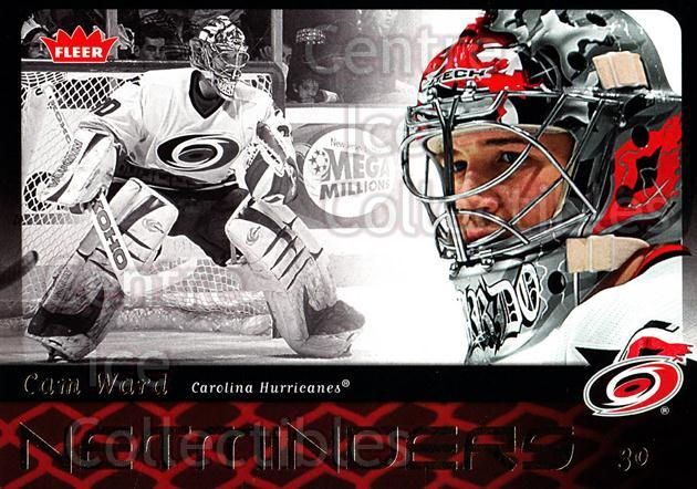 2006-07 Fleer Netminders #6 Cam Ward<br/>2 In Stock - $2.00 each - <a href=https://centericecollectibles.foxycart.com/cart?name=2006-07%20Fleer%20Netminders%20%236%20Cam%20Ward...&price=$2.00&code=561472 class=foxycart> Buy it now! </a>