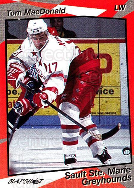 1993-94 Sault Ste. Marie Greyhounds #15 Tom MacDonald<br/>3 In Stock - $3.00 each - <a href=https://centericecollectibles.foxycart.com/cart?name=1993-94%20Sault%20Ste.%20Marie%20Greyhounds%20%2315%20Tom%20MacDonald...&quantity_max=3&price=$3.00&code=5615 class=foxycart> Buy it now! </a>
