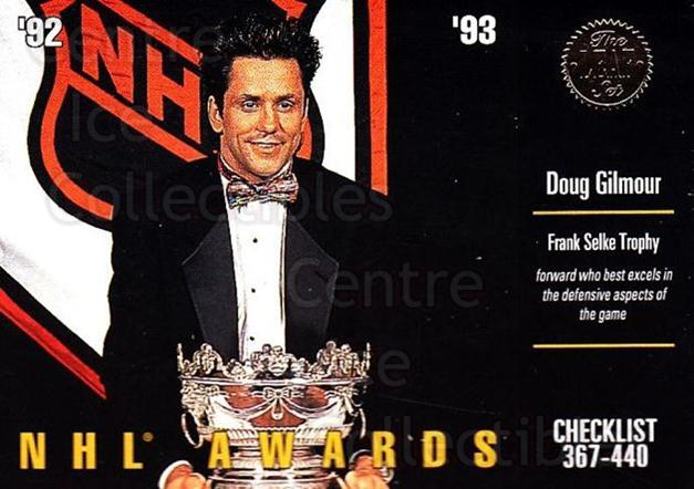 1993-94 Leaf #440 Doug Gilmour, Checklist<br/>1 In Stock - $1.00 each - <a href=https://centericecollectibles.foxycart.com/cart?name=1993-94%20Leaf%20%23440%20Doug%20Gilmour,%20C...&quantity_max=1&price=$1.00&code=561600 class=foxycart> Buy it now! </a>