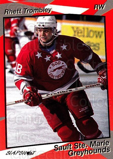 1993-94 Sault Ste. Marie Greyhounds #16 Rhett Trombley<br/>3 In Stock - $3.00 each - <a href=https://centericecollectibles.foxycart.com/cart?name=1993-94%20Sault%20Ste.%20Marie%20Greyhounds%20%2316%20Rhett%20Trombley...&quantity_max=3&price=$3.00&code=5616 class=foxycart> Buy it now! </a>