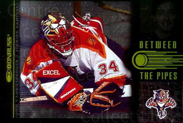1997-98 Donruss Between The Pipes #3 John Vanbiesbrouck<br/>2 In Stock - $5.00 each - <a href=https://centericecollectibles.foxycart.com/cart?name=1997-98%20Donruss%20Between%20The%20Pipes%20%233%20John%20Vanbiesbro...&quantity_max=2&price=$5.00&code=56247 class=foxycart> Buy it now! </a>