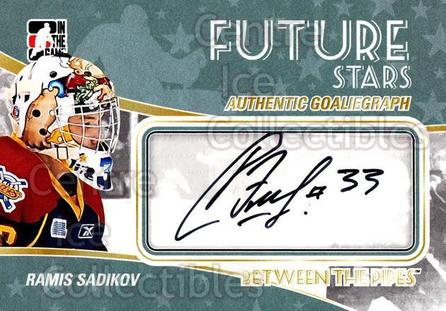 2010-11 Between The Pipes Auto #ARS Ramis Sadikov<br/>1 In Stock - $5.00 each - <a href=https://centericecollectibles.foxycart.com/cart?name=2010-11%20Between%20The%20Pipes%20Auto%20%23ARS%20Ramis%20Sadikov...&quantity_max=1&price=$5.00&code=563124 class=foxycart> Buy it now! </a>
