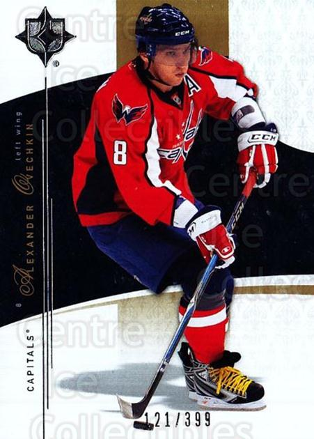 2009-10 UD Ultimate Collection #1 Alexander Ovechkin<br/>1 In Stock - $5.00 each - <a href=https://centericecollectibles.foxycart.com/cart?name=2009-10%20UD%20Ultimate%20Collection%20%231%20Alexander%20Ovech...&price=$5.00&code=563256 class=foxycart> Buy it now! </a>