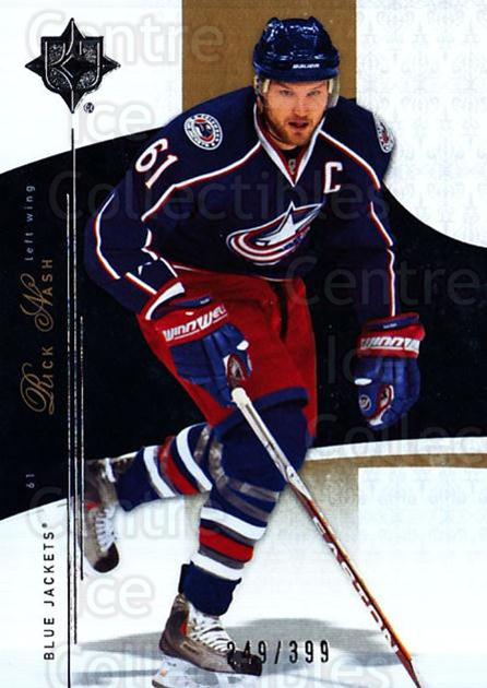 2009-10 UD Ultimate Collection #10 Rick Nash<br/>2 In Stock - $5.00 each - <a href=https://centericecollectibles.foxycart.com/cart?name=2009-10%20UD%20Ultimate%20Collection%20%2310%20Rick%20Nash...&quantity_max=2&price=$5.00&code=563265 class=foxycart> Buy it now! </a>