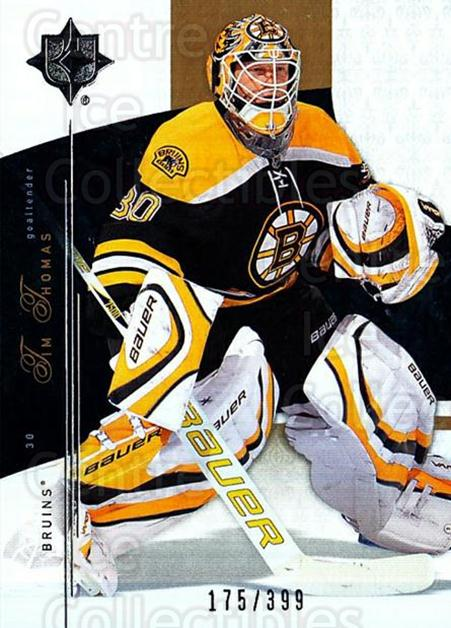 2009-10 UD Ultimate Collection #14 Tim Thomas<br/>1 In Stock - $5.00 each - <a href=https://centericecollectibles.foxycart.com/cart?name=2009-10%20UD%20Ultimate%20Collection%20%2314%20Tim%20Thomas...&quantity_max=1&price=$5.00&code=563269 class=foxycart> Buy it now! </a>