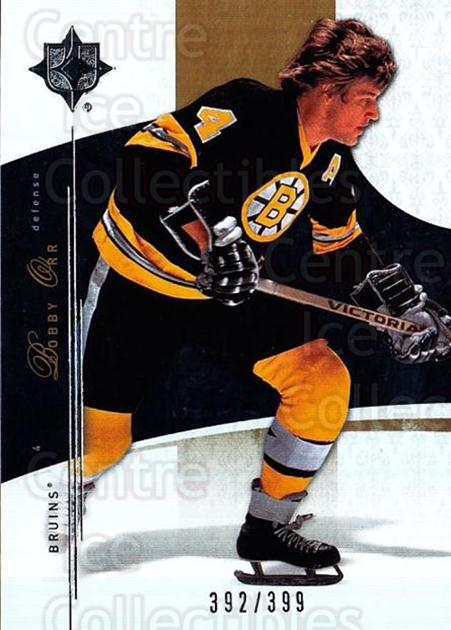 2009-10 UD Ultimate Collection #32 Bobby Orr<br/>1 In Stock - $10.00 each - <a href=https://centericecollectibles.foxycart.com/cart?name=2009-10%20UD%20Ultimate%20Collection%20%2332%20Bobby%20Orr...&price=$10.00&code=563287 class=foxycart> Buy it now! </a>
