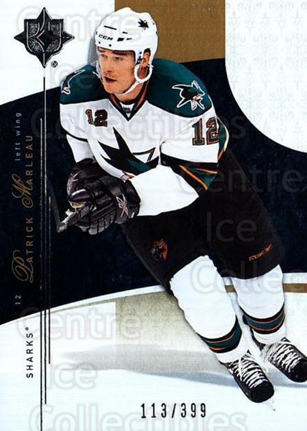 2009-10 UD Ultimate Collection #38 Patrick Marleau<br/>1 In Stock - $5.00 each - <a href=https://centericecollectibles.foxycart.com/cart?name=2009-10%20UD%20Ultimate%20Collection%20%2338%20Patrick%20Marleau...&quantity_max=1&price=$5.00&code=563293 class=foxycart> Buy it now! </a>